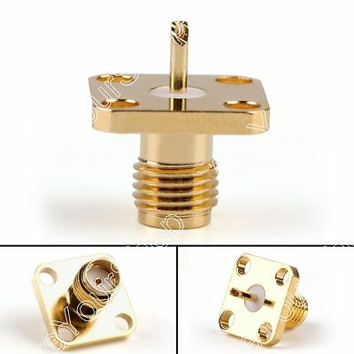 2x SMA Female Jack Chassis 4Hole Panel Mount Post Terminal RF Coax Connector 5mm