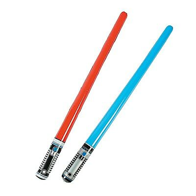 (12) Inflatable Light Sabers Star Wars Party Decoration Prop Costume