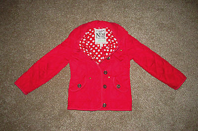 Girls Next Red Winter Coat. Age 7-8 Years. Fitted. Fleece Lined. Warm.
