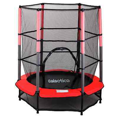 WestWood Children's Mini Trampoline With Safety Net – 4.5FT Kids Rebounder Red
