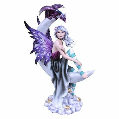 Moonique Moon Fairy & Dragon Figurine By Nemesis Now