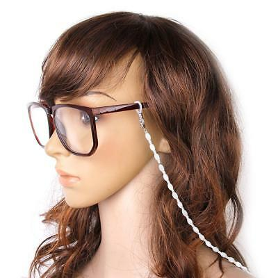 New Beads Eyeglass Spectacle Glasses Chain Neck Holder Cord Lanyard - White