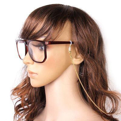 Gold Box Chain Eyeglasses Holder Spectacle Glasses Cord Necklace Accessory