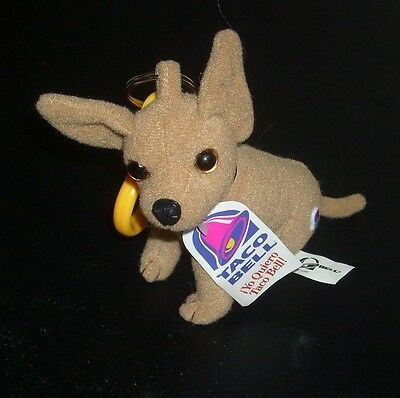 Taco Bell Chihuahua Dog Key Chain  Plush Back Pack Clip On