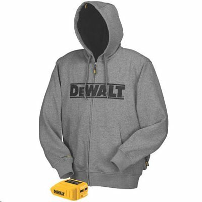 DEWALT DCHJ068B-2XL 20V/12V MAX* Gray Heated Hoodie, Size 2X-Large (Hoodie and A
