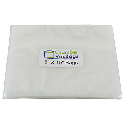 "1000 ChamberVacBags 8""X10"" Chamber Vacuum Pouches 3 mil -Sous Vide, Food Storage"