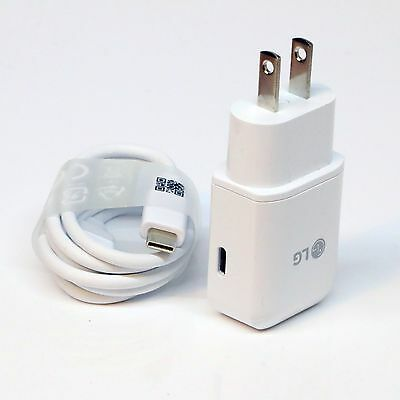OEM LG Type C Wall Charger Adapter / Cable for LG Q6 G7 G8 V30 Q Stylo 4 Plus