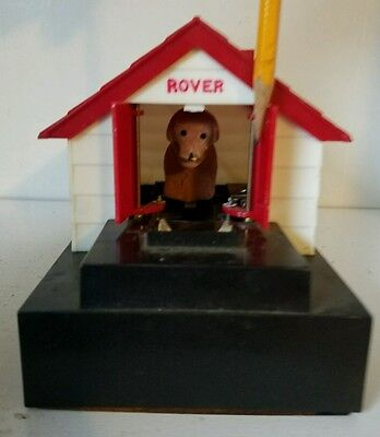 """"""" ROVER """" Dog Mechanical Battery Operated Coin Bank - 1960's"""