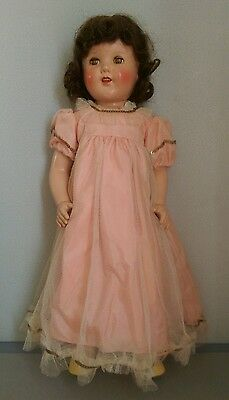 "Vintage 24"" Reliable Doll Shirley Temple Rare Composition Doll"