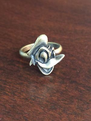 Vintage Disney Donald Duck Metal Adjustable Novelty Ring