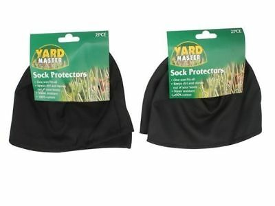 6 pairs of sock protectors green & black keep dirt out of your shoes