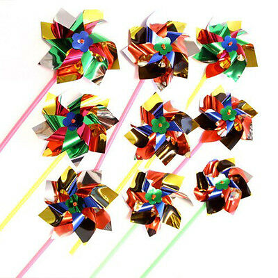 MS 12Pcs Paradise Party Pinwheels Multi Flamboyant Colors 11in. Party Toys
