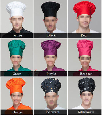 New Style Colorful Chef Hat Tableware Kitchener Cap Cake Hat Free Shipping