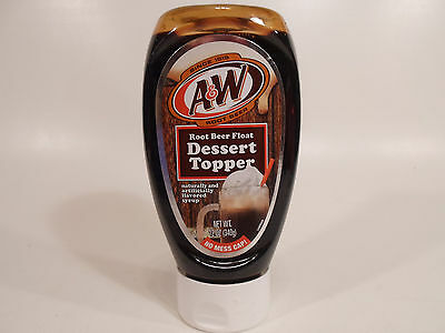 A&W Root Beer Float Dessert Topper 12 Oz Flavored Syrup