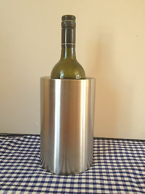 Stainless Steel Ice Bucket Double Wall,Twin Wall ,Insulated wine cooler Silver