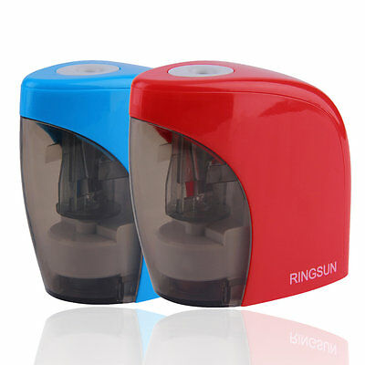 Automatic Blue/Red Electric Battery Pencil Sharpener For Office School use HR