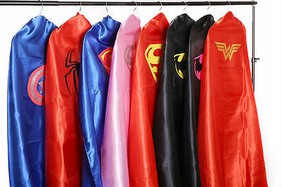 Superhero Cape Costume Superman Batman Bat Girl Fancy Dress Stag Hen Party ADULT