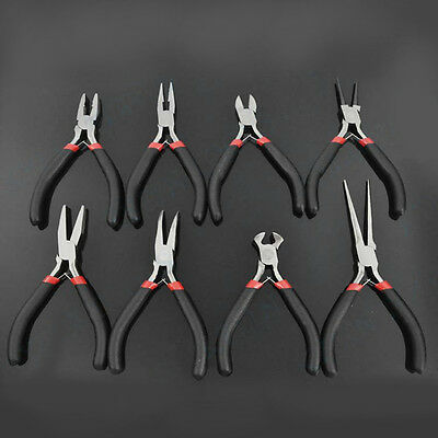 1PC Jewellery Making Beading Mini Pliers Tools Kit Set Round Flat Long Nose HR