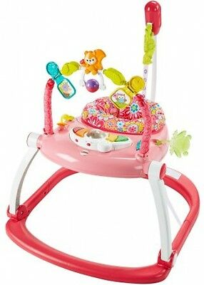 Fisher Price Floral Jumperoo Bouncer Baby Infant Gear & Developmental Toy Girl