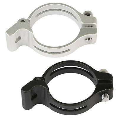 Bike 31.8/34.9mm Front Derailleur Braze-on Adapter Forged Clamp Easy to Lock