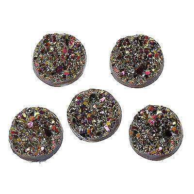10 x Druzy 12mm Cabochon in Kaleidoscope AB Perfect for Earrings.