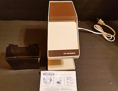 Rival Electric Ice Crusher Model 840 VINTAGE EXCELLENT COSMETIC CONDITION