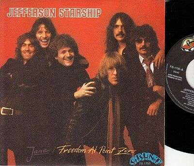 "JEFFERSON STARSHIP - Jane - r@re Spanish 7"" single 45 Spain 1979 PROMO"