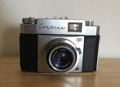 Zeiss Ikon Contina Vintage Camera With Case And Original Instructions