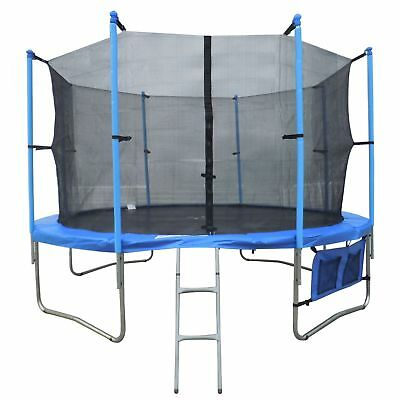 12ft FT Trampoline with Ladder Net Enclosure Safety Padding Weather Cover New