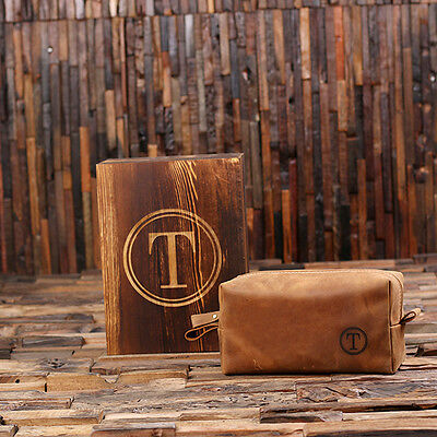 3908184083a0 PERSONALIZED LEATHER TOILETRY Bag