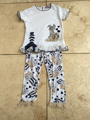 Monnalisa Lady And The Tramp 24 Months Girls Designer Clothes Top Leggings Set