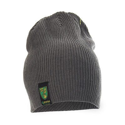 Official Norwich City Fc Slouch Beanie Grey