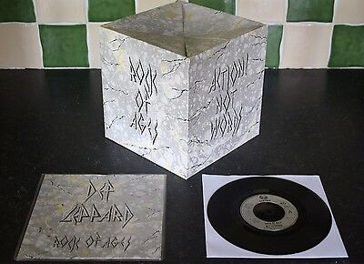 "DEF LEPPARD ROCK OF AGES b/w ACTION NOT WORDS ROCK BOX 1983 7"" VINYL 45 P/S"