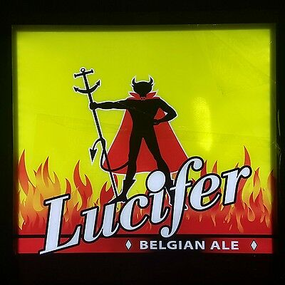 Lucifer Belgian Ale Beer LED Sign New in Box