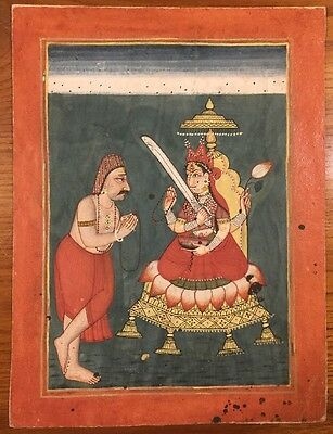 17th-18th Century Antique Indian Miniature Painting Authentic From Ex Collection
