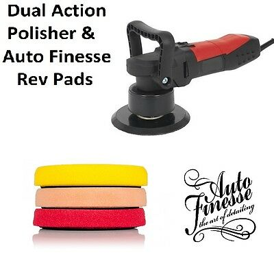 Auto Finesse 150mm Revitalise Pads (3) & DAS6 Lightweight Polisher Buffer 850w