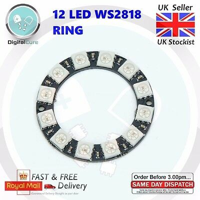 12 LED RGB WS2812 NeoPixel Ring 5050 Integrated Drivers for Arduino Raspberry Pi