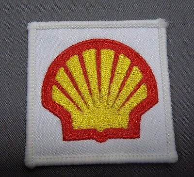 SHELL OIL Embroidered Iron On Uniform-Jacket Patch 2x2""
