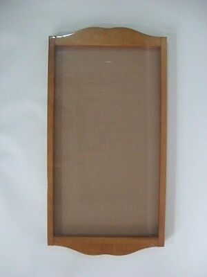 "LANG CALENDAR FRAME Wood Wooden Saddle Warm Finish Vertical Wall 27.5""L NEW"