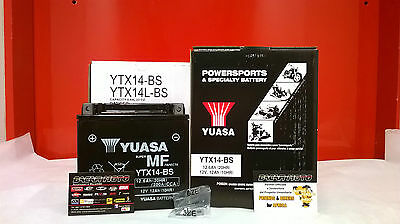 BATTERY HYOSUNG YUASA YTX14-BS LOADED GT Comet S	250 2006 2007