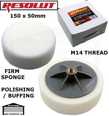 RESOLUT 150mm Firm Polishing And Buffing Sponge NEW 8154