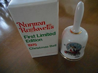 SALE! Norman Rockwell's 1975 First Limited Edition Christmas Bell - NIB