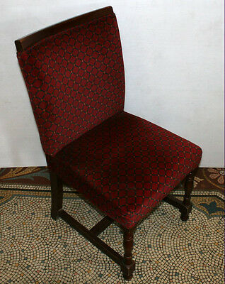 Vintage Burgundy Red Velvet Chair Hall Theatre Pub Dining Breakfast