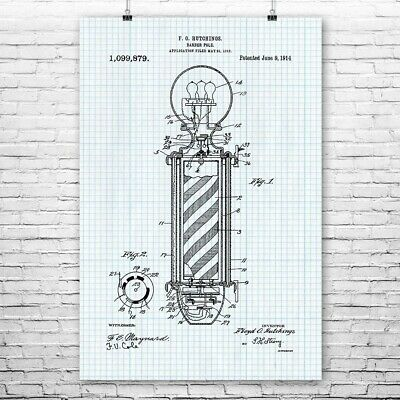 Barber Pole Poster Print Barber Gift Hair Stylist Cosmetology Student Hair Salon