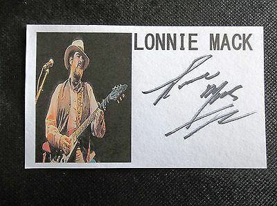 """Lonnie Mack """"gibson Flying V"""" Autographed 3X5 Inch Index Card"""
