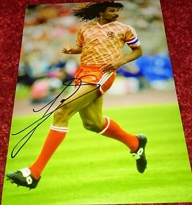 "Ruud Gullit signed 12x8"" holland photo /chelsea/ ac milan COA. Photo proof"
