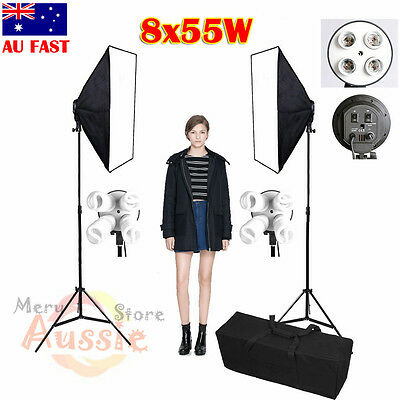 PRO Photo Continuous Lighting Softbox Set Studio 2200W Soft Box Light Stand Kit