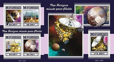 Z08 Imperforated MOZ15320ab MOZAMBIQUE 2015 Space MNH Set
