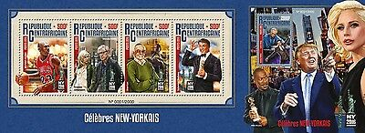 Z08 Imperforated CA16115ab CENTRAL AFRICA 2016 New York celebrities Donald Trump