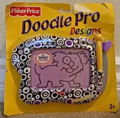 FISHER PRICE DOODLE PRO DESIGN MAGNETIC DRAWING SCREEN PORTABLE - geometric